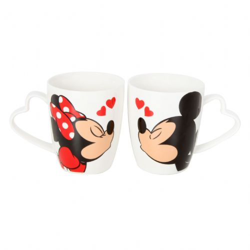 Disney Mickey and Minnie Pair Of Mugs Gift Set For Valentines, Wedding and Anniversary Gift
